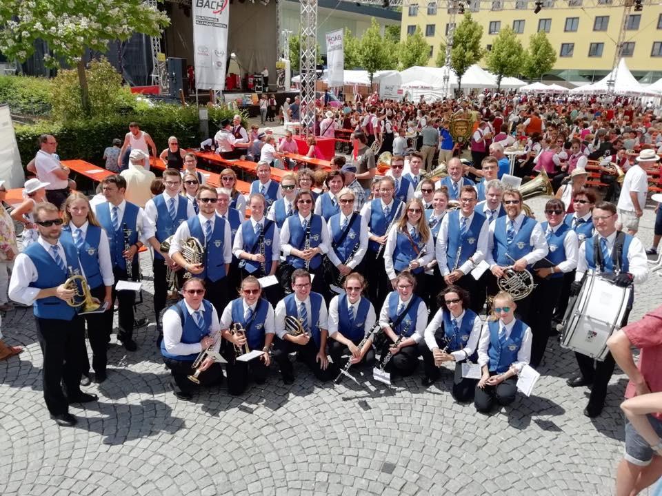 Die Stadtmusik beim Verbandsmusikfest 2018 in Singen